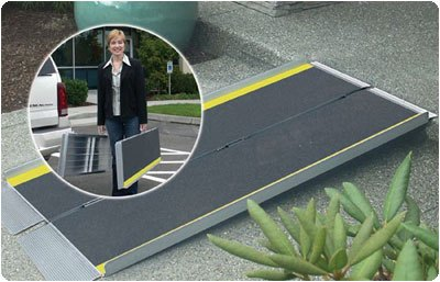 """<a href=""""http://www.wheelchairrampslifts.com/advice/portable-suitcase-ramps-work-7.html""""><b>Portable Suitcase Ramps Work for Many</b></a><p>Portable suitcase ramps are an option for those who need to easily move ramps from place to place. As its name implies, this type of ramp simply folds up and is carried much like a suitcase would be carried.</p>"""