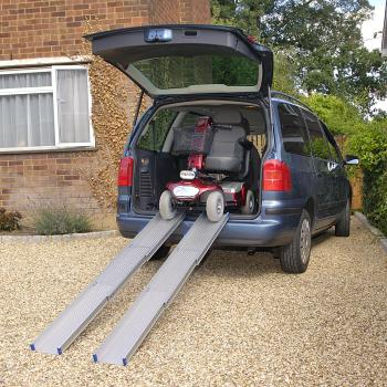 """<a href=""""http://www.wheelchairrampslifts.com/wheelchair-vans/vehicle-disability-ramps-28.html""""><b>Wheelchair Vehicle Accessible Disability Ramps</b></a><p>Vehicle disability ramps are created with one purpose in mind―to make it easier and safer to enter or exit a van or other vehicle.  Many vehicles may use powered lifts to do the job, but there are many credible ramp options.</p>"""