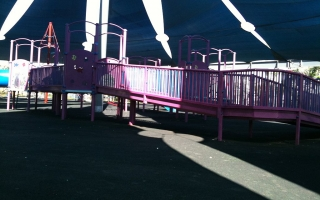 wheelchair ramp for playground